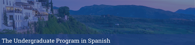 Undergraduate Program in Spanish header